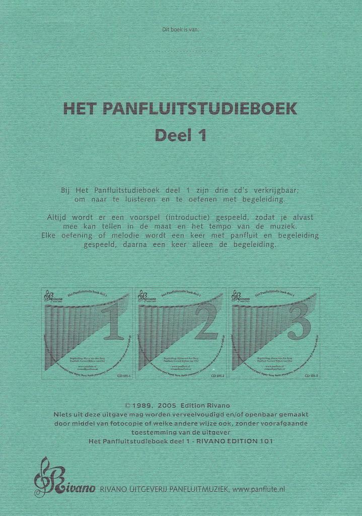 Het Panfluitstudieboek - Deel 1 - 3CD-set